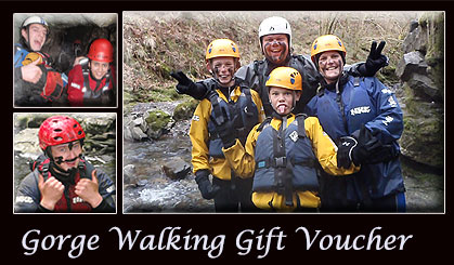 gorge walking gift voucher