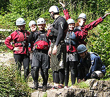 Gorge walking group photo