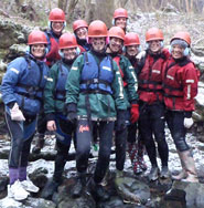 Girls Gorge Walking in Brecon